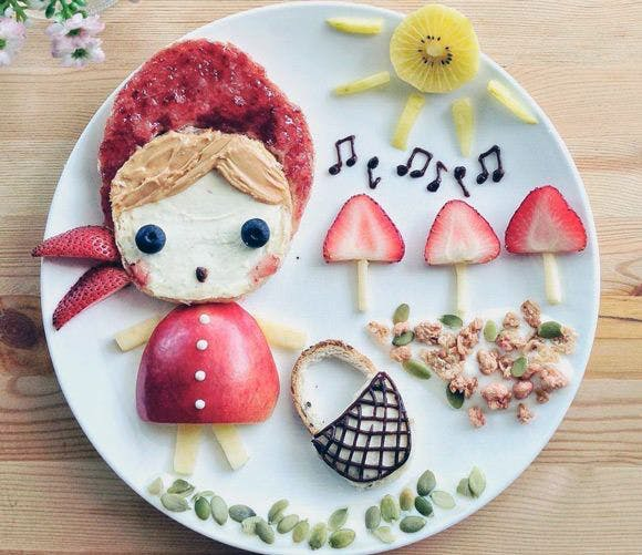 Une assiette pour les filles