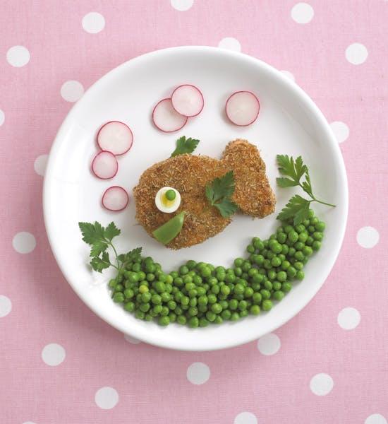 Festin de poisson et légumes verts