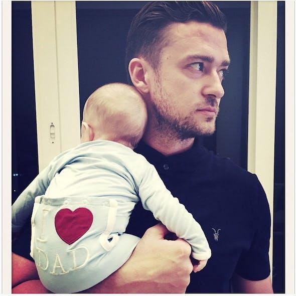 Justin Timberlake et son fils Silas