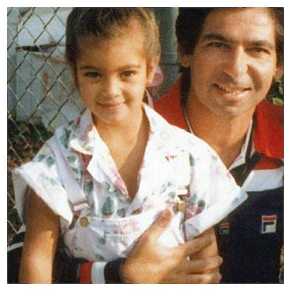 Kim Kardashian petite avec son père