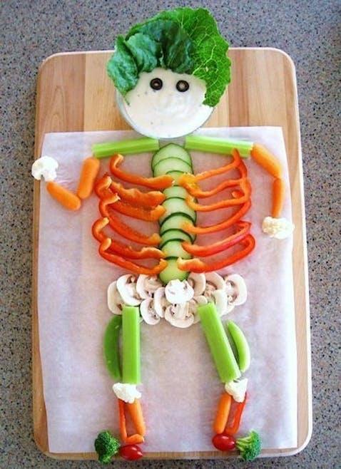 Squelette en légumes