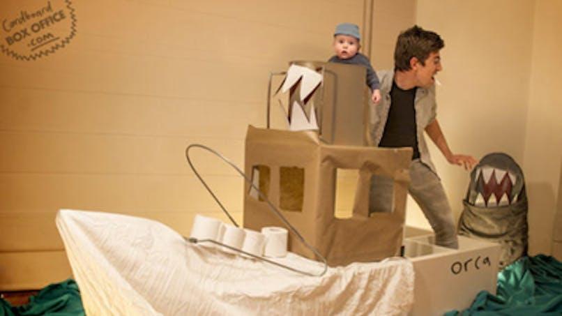 Photos : des parents et leur bébé rejouent des scènes cultes de films