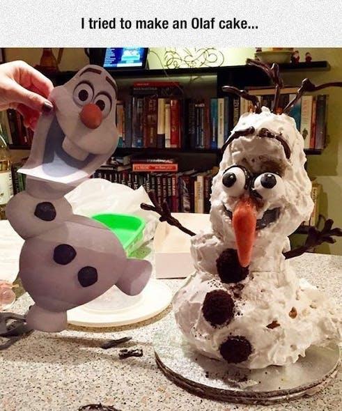 Gâteau Olaf, La reine des neiges