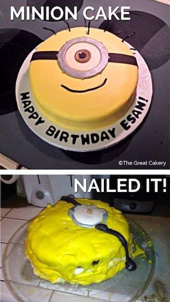 Gâteau les minions