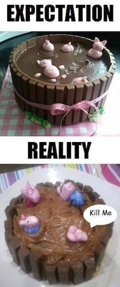 Gâteau les petits cochons