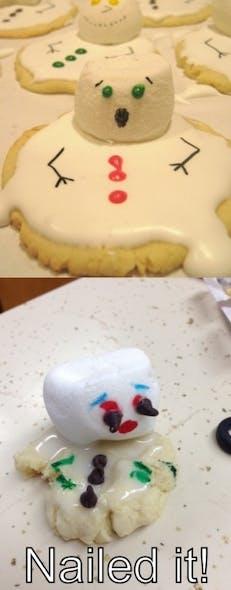 Gâteau petit bonhomme de neige