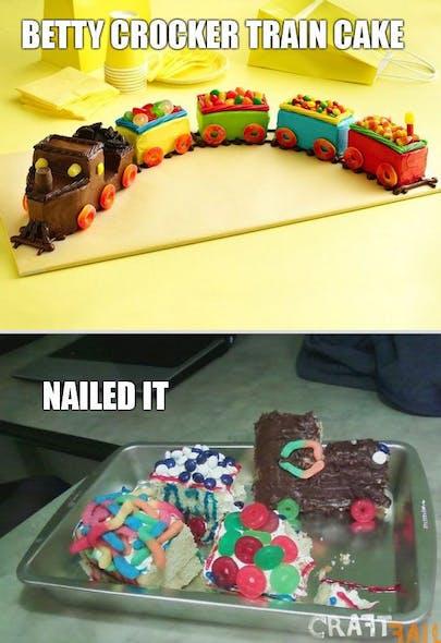 Gâteau petite locomotive