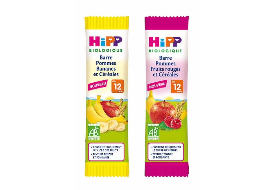 Barres de céréales et fruits de Hipp Biologique
