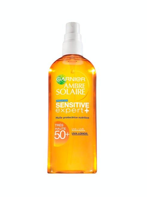 Huile Protectrice Nutritive Sensitive Expert+, SPF         50+, Garnier Ambre Solaire