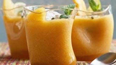 Dessert : soupe de melon citron vert