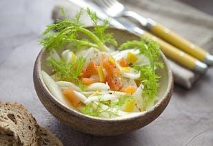 Plat : salade de fenouil et saumon