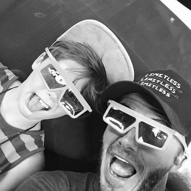 David et son fils à Disney