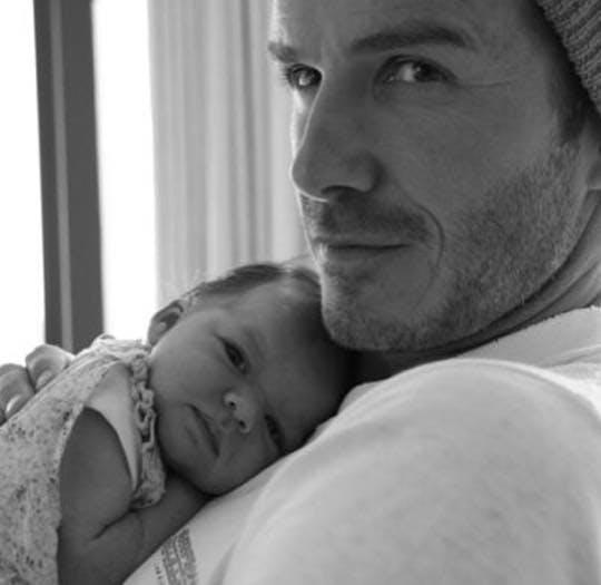 Harper bébé avec son papa