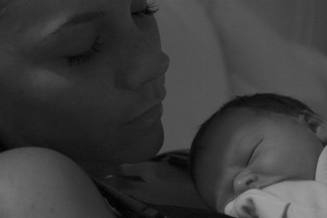 L'une des premières photos d'Harper après sa         naissance