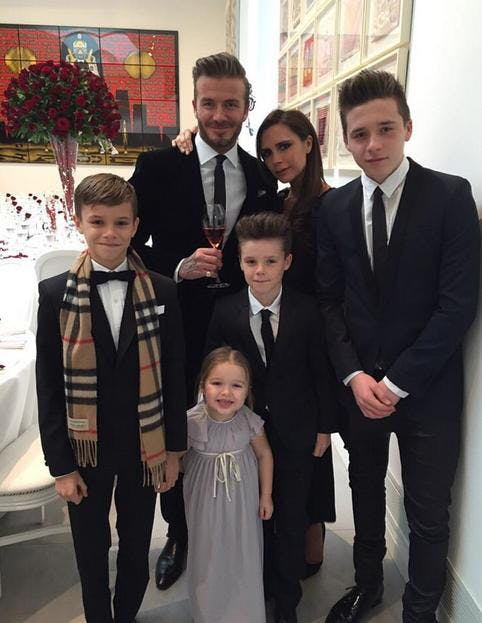 Les Beckham au complet
