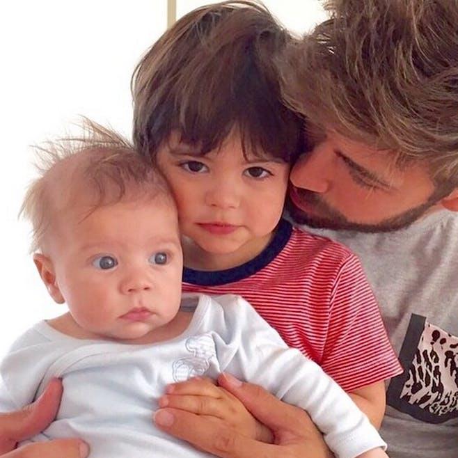 Sasha et Milan, les enfants de Shakira et Gerard         Piqué