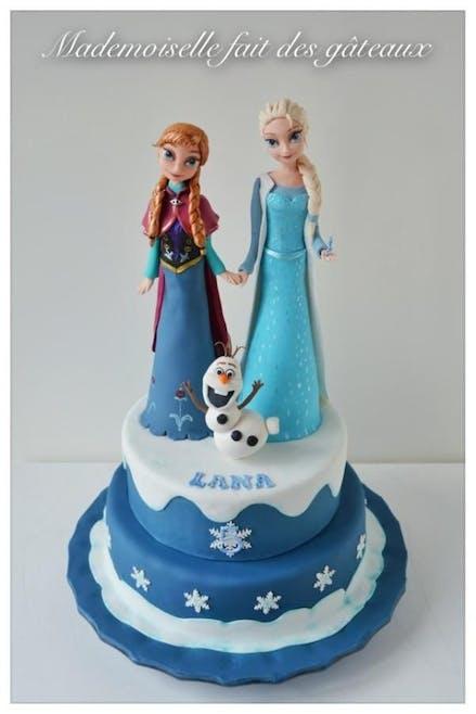 Gâteau Elsa, Anna et Olaf