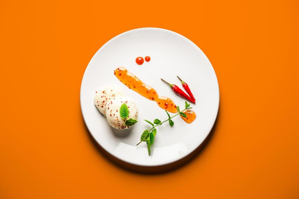 Glace à la sauce chili
