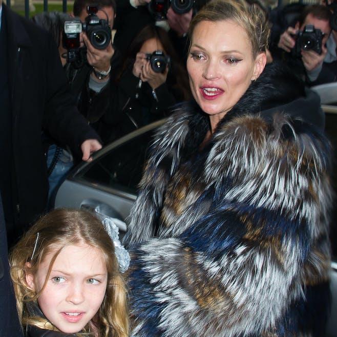 Kate Moss et sa fille Lila Grace