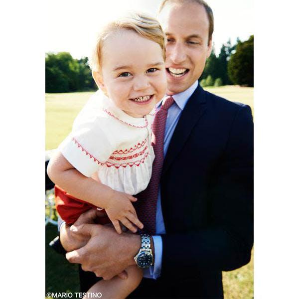 Le prince George et le prince William