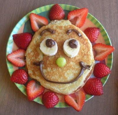 Des pancakes au chocolat et aux fraises