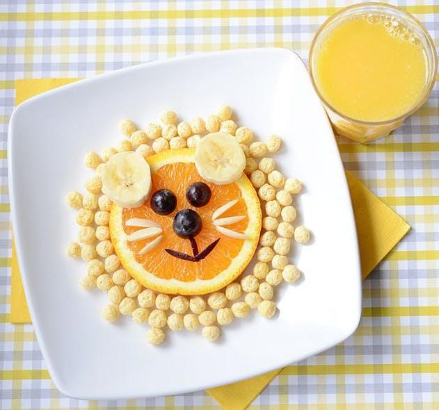 Du jus d'orange et des céréales