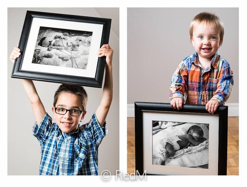 Félix, né à 23 semaines, et son frère Alexis, né à         presque 33 semaines.