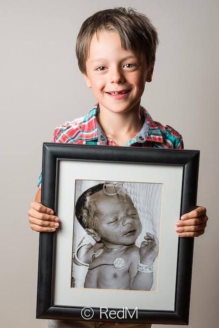 Léonard, né à 35 semaines.