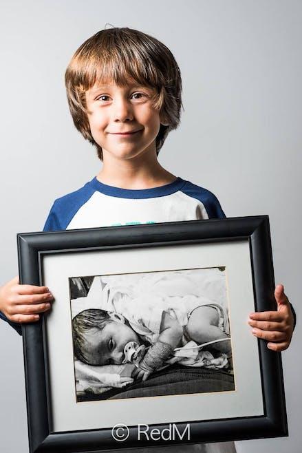 Samuel, né à 36 semaines.