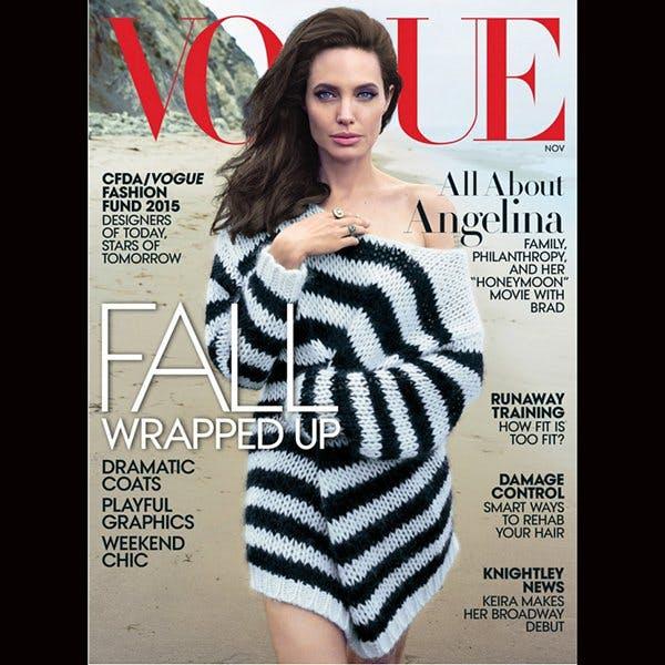 Angelina Jolie, en couverture du Vogue de         novembre