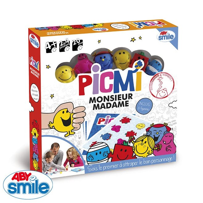 Jeu de plateau Monsieur Madame PICMI ABY Smile