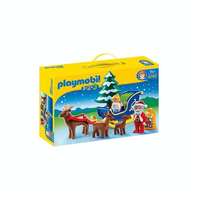 Père Noël avec Angelot et traîneau Playmobil