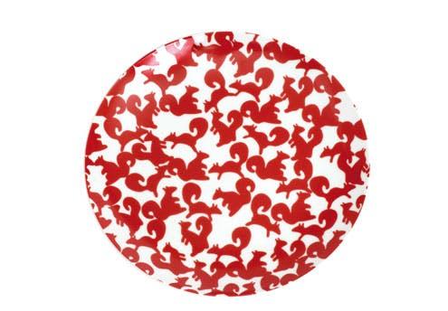 Assiettes à dessert motif « Ecureuil » en       porcelaine