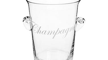 Le seau à champagne en verre