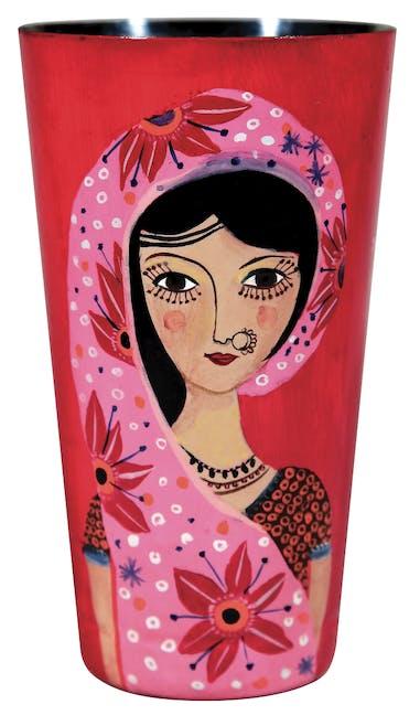 Vase « visages du monde »