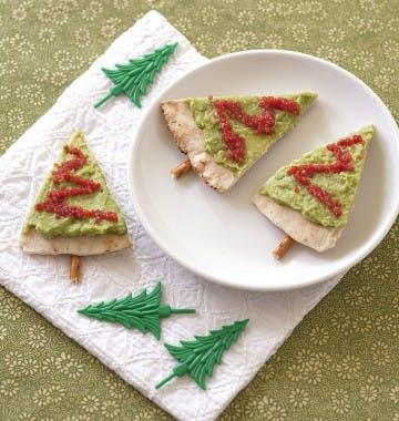 Toasts sapin de Noël