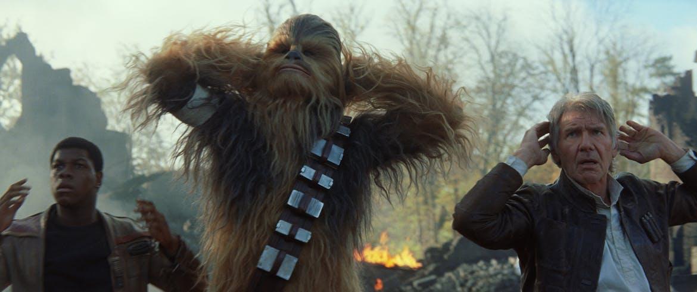 Finn, Chewbacca et Han Solo