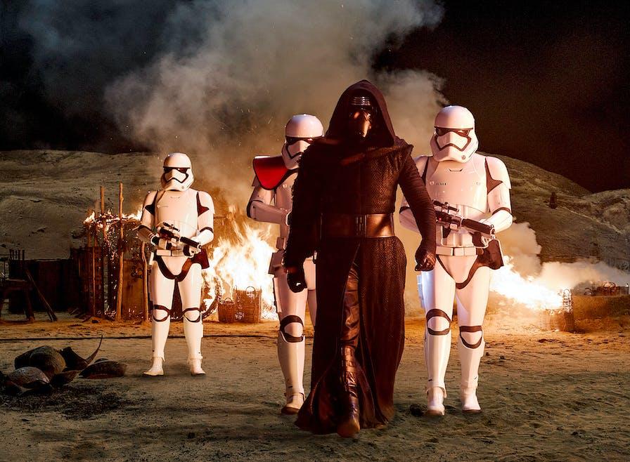 Kylo Ren et les Stormtroopers