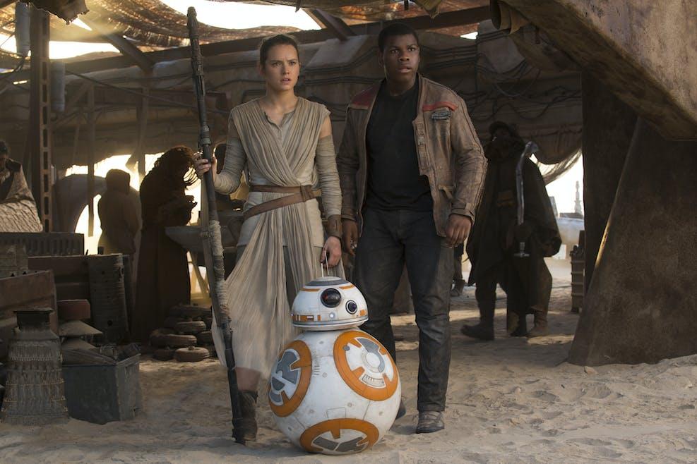 Rey, Finn et BB-8
