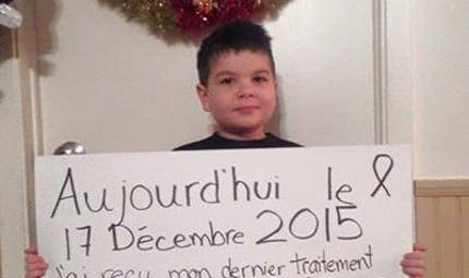 A quelques jours de Noël, un garçon de 6 ans gagne son  combat contre la leucémie