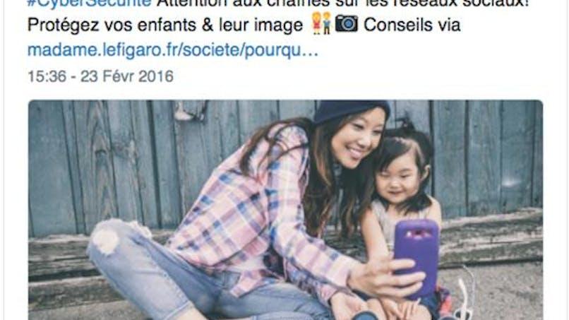 Facebook : la Gendarmerie nationale conseille de ne pas   publier les photos de vos enfants