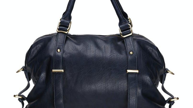 Belle contenance : Sac à langer avec zip bleu nuit,         Séraphine