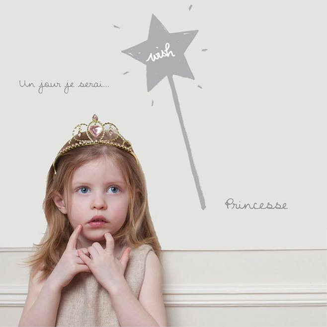 Sticker « Je serai une princesse »