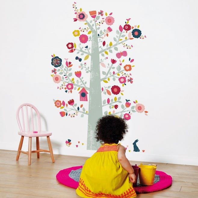 Sticker XL arbre à fleurs