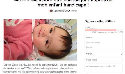 Elle crée une pétition pour pouvoir se rapprocher de sa   fille