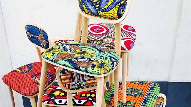 Le tissu africain wax cartonne dans la décoration   d'intérieur