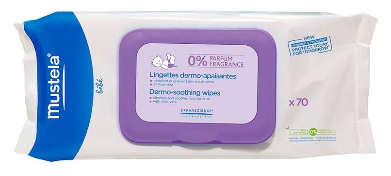Pour le change : Lingettes Dermo-Apaisantes Sans         Parfum, Mustela bébé