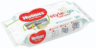 Pour le change : Lingettes Style on the Go,         Huggies
