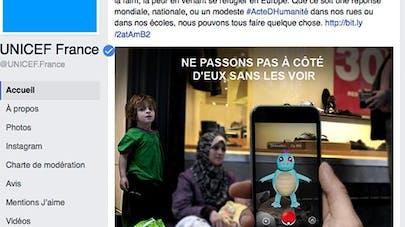 Pokemon Go : Unicef France poste une photo pour   sensibiliser