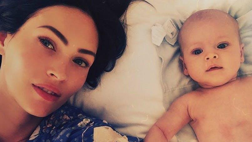 Megan Fox dévoile une photo de son troisième   enfant